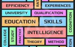 Education word collage poster.