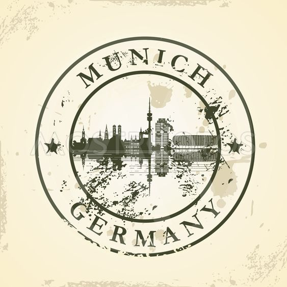 Grunge rubber stamp with Munich, Germany