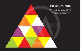 Vector illustration of pyramid with triangels,