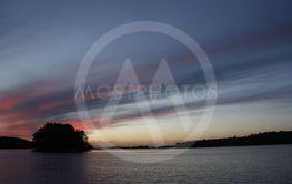 Sky line over the lake