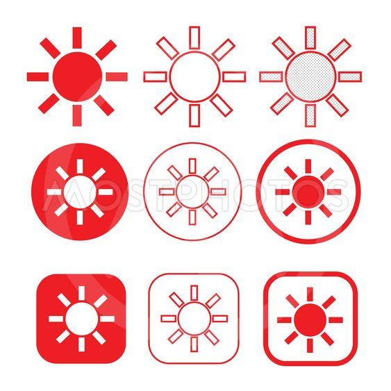 simple sun icon sign design