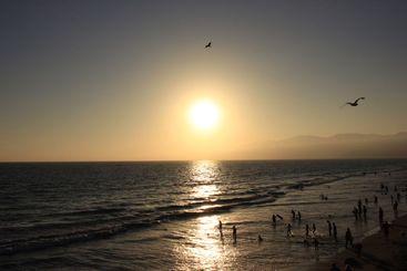 Santa Monica beach vacation
