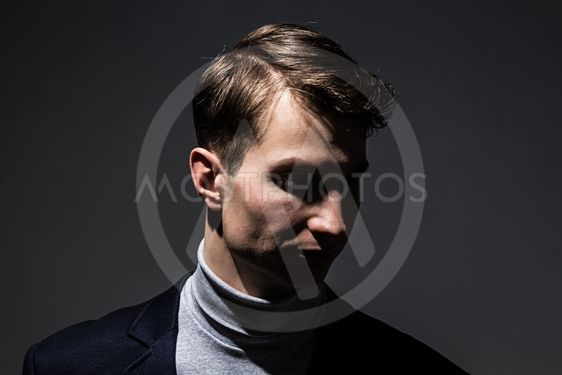 Businessman in the shadow