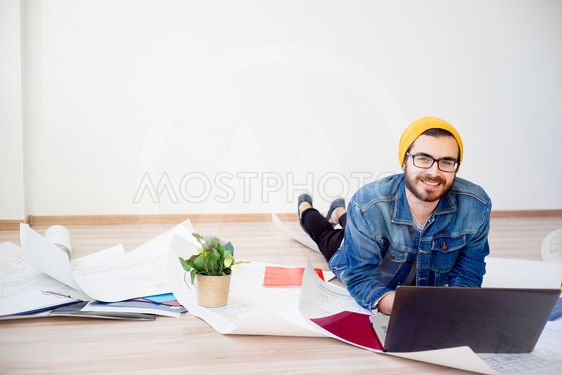 Freelancer architect working from home