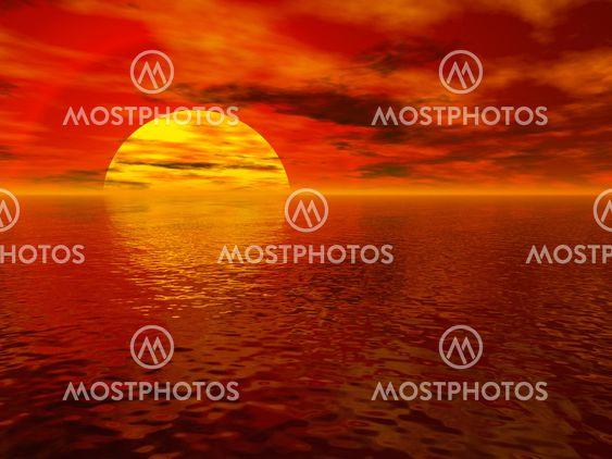 Havet solnedgang