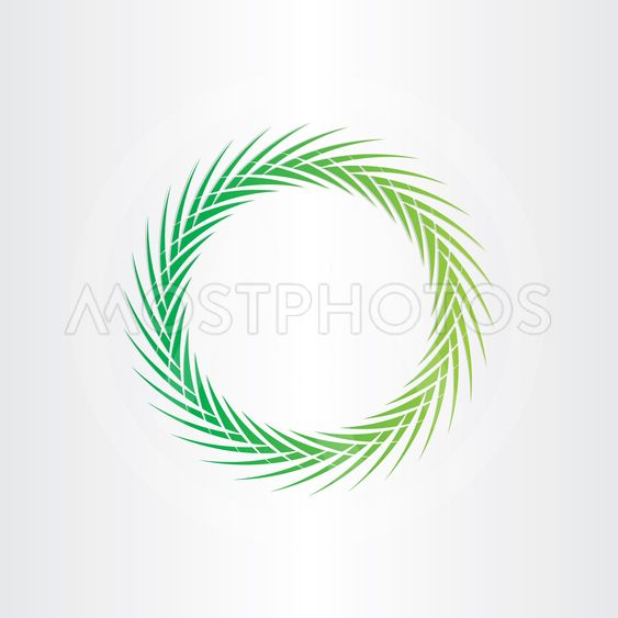 green abstract vector circle background
