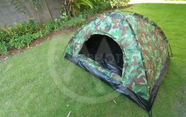 tent camping on green grass lawn campsite, equipment for...