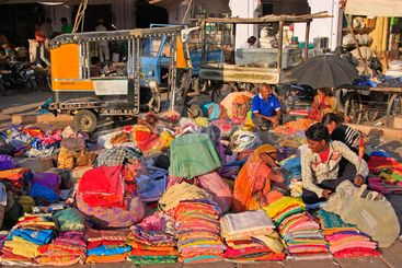 Colorful indian market