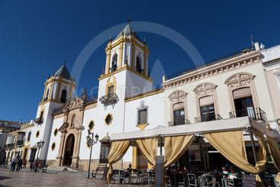 Church of Socorro and Plaza in Ronda, Spain