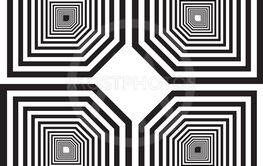 pseudo labirinth inspired structure abstract cut art...