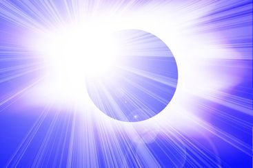 Eclipse in outer space