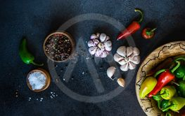 Cooking concept with spices