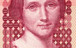 Camilla Collett a portrait from Norwegian money