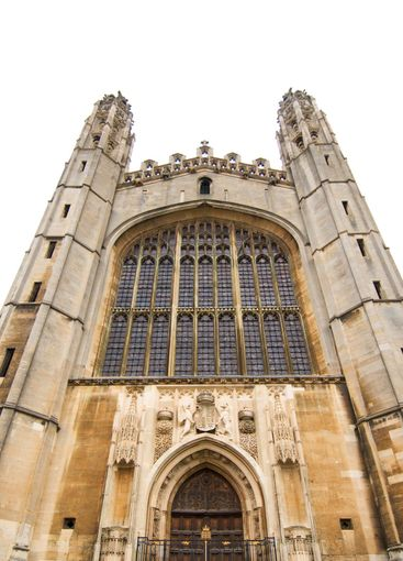 University of Cambridge, west front of King's college...