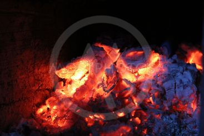 fire, charcoal, wood ,stove