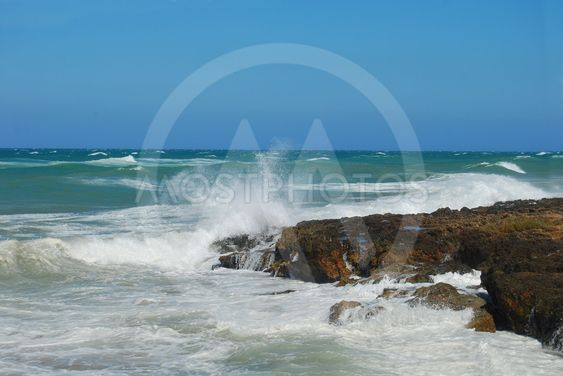 Storm on the Apulian coast of Torre Canne - Apulia - Italy