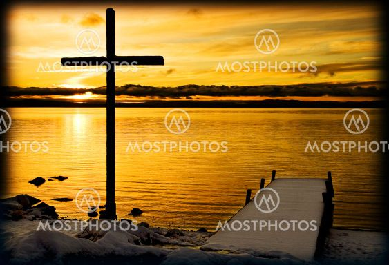 Jetty and cross