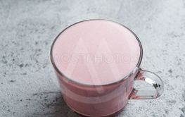 Pink beetroot latte