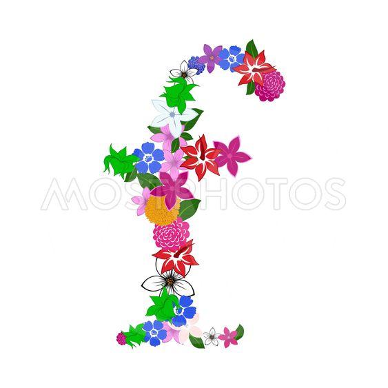 Floral Alphabet Letter