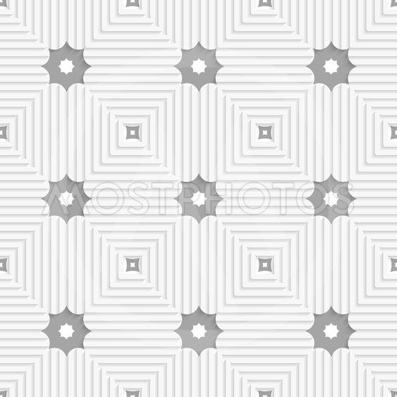 White triangles with lines and gray stars