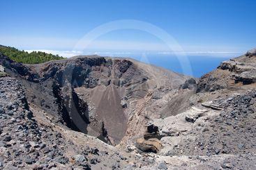 Crater of Hoya Negro, volcano at La Palma, Spain.