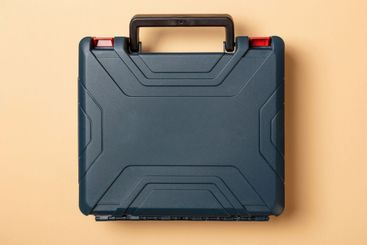 Hard plastic carrying case for tools