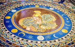 Floor mosaic in Vatican Museum