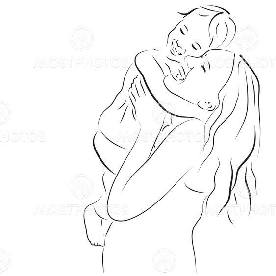Glad mor og datter