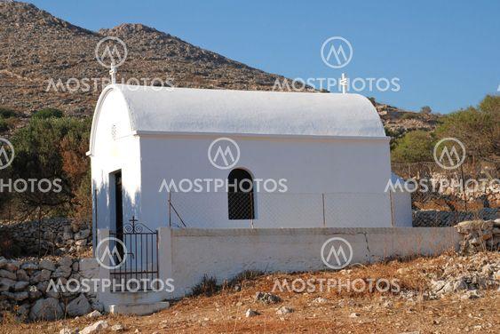 Whitewashed chapel, Halki