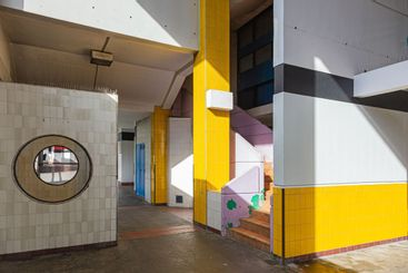 colorful and geometric architecture