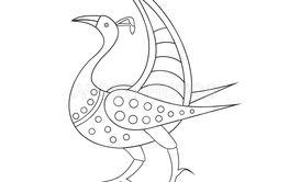 Vektor illustration. Fågel fantasi.