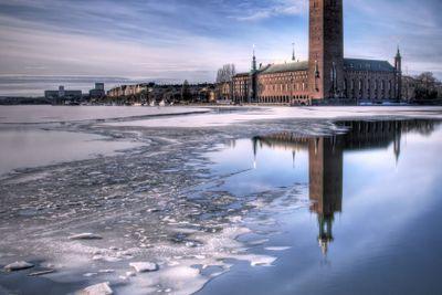 Cityhall Stockholm, in winter.