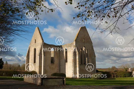 Ancient church in Yevre-le-chatel, Loiret, Centre-Val de...