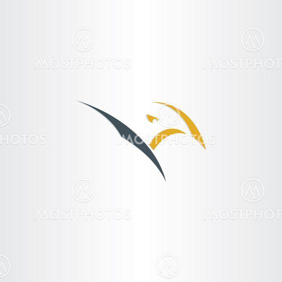 eagle stylized vector logo icon design