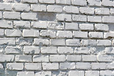 Old White Painted Brick