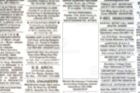Blank Advertisement on Classified Ads