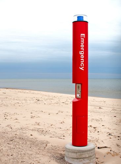 Beach Emergency Call Box