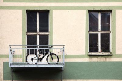 Bicycle on the balcony