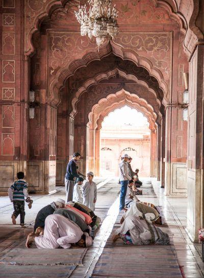 Indian Muslims in Prayer