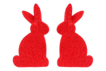 Two red rabbits