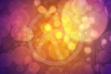Glow multicolor circles on dark background