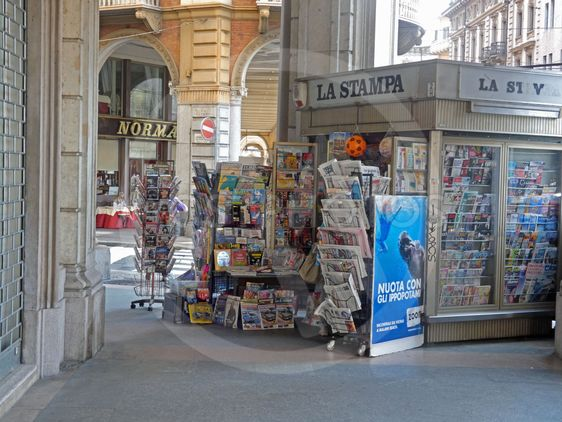 Newspaper stand in Turin