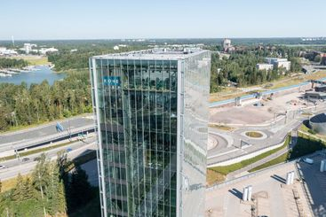 Aerial view of Kone company headquarter building