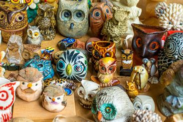 collection of miniature owls