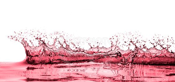 splashing red wine