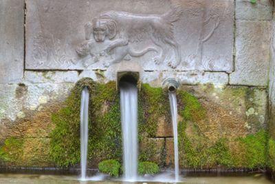 cascading waterfall in Crimea
