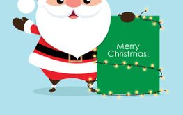 Christmas Greeting Card with Christmas Santa Claus....