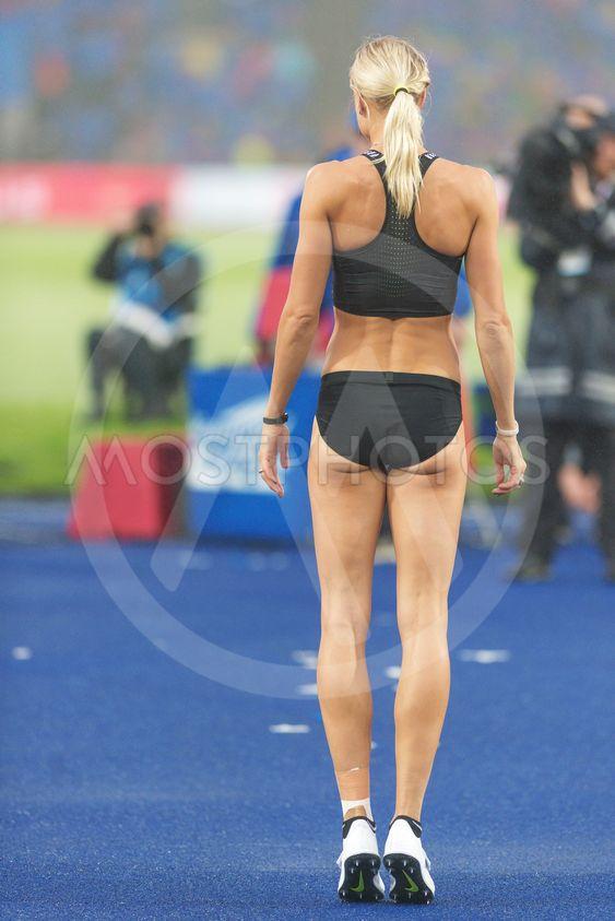 Erika Kinsey in women high jump at the IAAF Diamond...