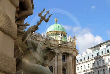 View on the Hofburg in Vienna