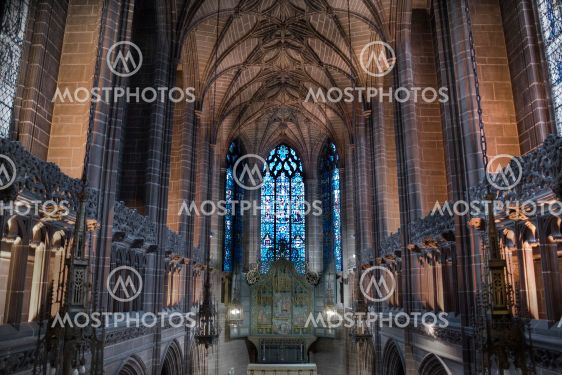 Lady Kapel inde i Liverpool Cathedral, Liverpool, England